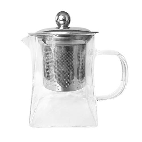 STRIR Infusor de te de Cristal   Filtro de Tetera de Hojas Sueltas de Acero Inoxidable   Colador de te y cafe Resistente al Calor   Taza de te Sola Taza 350ml