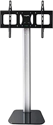 WXHHH Mueble de Soporte para TV Pedestal de Mesa Universal Ajustable en Altura con Base de Vidrio Templado y gestión de Cables (Color: A)