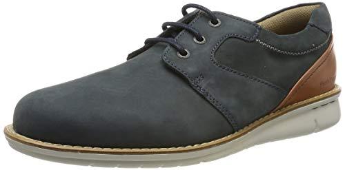 Hush Puppies Chase, Zapatos de Cordones Derby Hombre, Azul (Marino Armada), 41