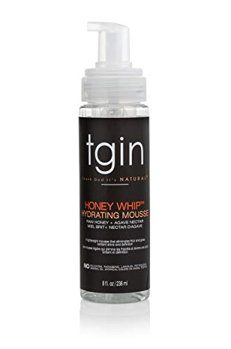 Price comparison product image tgin Honey Whip Hydrating Mousse For Natural Hair - Dry Hair - Curly Hair - Damaged Hair - 8 Oz