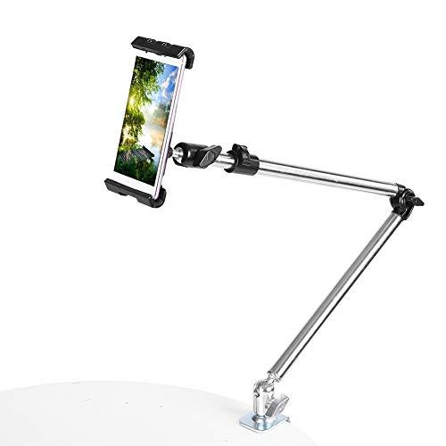 VBESTLIFE Supporto per Smartphone e Tablet Supporto Tavolo con Braccio Regolabile Rotazione di 360 Gradi Supporto da Tavolo Staffa per Soggiorno, Camera da Letto e Studio