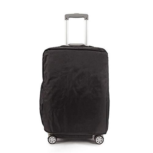Fishtravel スーツケース カバー 防水 保護 洗える ナイロン シンプルな おしゃれ 旅行 海外 出張 キャリーバッグ カバー キズから保護 便利 (26, 黒)