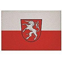 UB Aufnäher Schwäbisch Gmünd Flagge/Fahne Aufbügler Patch 6 cm x 4 cm Neuware!!!