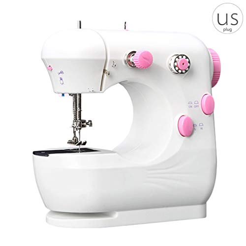 Sale!! Li qig Mini Electric Sewing Machine Portable Household Sewing Machine Beginner Tailors Free-A...