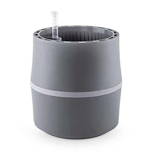 Airy S - Purificatore d'aria per interni, umidificatore naturale e Air Purifier per ambienti sani, sistema di piante brevettato contro l'allergia e l'inquinamento atmosferico, Grigio