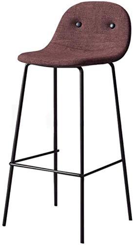 NYDZ Bar Chair Sgabello contatore sedie in Ferro Arte in Tessuto Traspirante con Schienale Individuale Pranzo Angolo Altezza Moderne Imbottite schienali e sedili Gambe Sgabelli Black Metal Pub Bistro