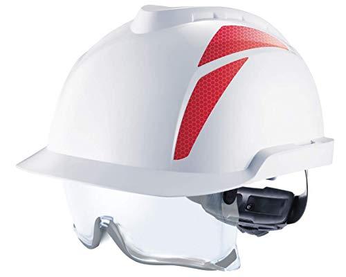 MSA Arbeitshelm V-Gard 930 mit integrierter Schutzbrille - Industriehelm nach EN 397 und EN 50365, elektrisch isolierend