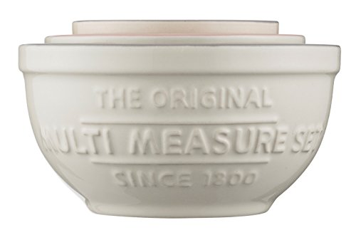 Mason Cash Innovative Kitchen Multi-Measuring Set, Ceramic, Off- White, 12 x 12 x 9 cm