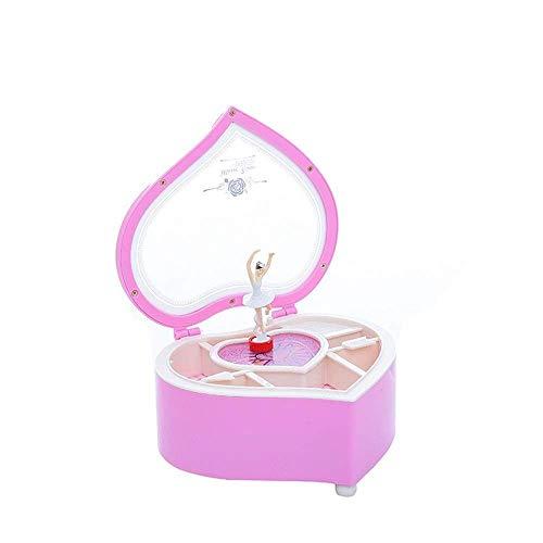 ZOUQILAI Bailarina Musical Caja de música, música Caja de música for Las Edades for niños de 3 a 5, Tema Lindo Rosa (Color: Rosa) (Color : Pink)