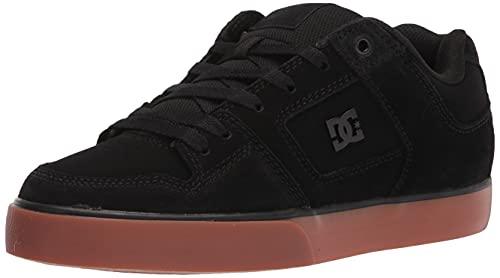 DC Men's Pure Casual Skate Shoe, Black/Black/Gum, 6