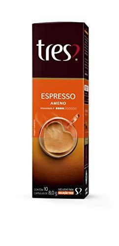 Cápsula de Café Espresso, Ameno, 10 Unidades, Tres, 3 Corações