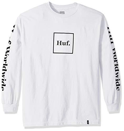 HUF Herren Domestic LS Tee T-Shirt, weiß, Mittel