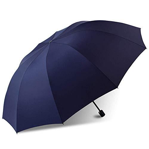ZHYGDQ Paraguas de Viaje a Prueba de Viento, Adecuado para 2 a 3 Personas, 10 Filas de Varillas, Impermeable Mejorado, Protector Solar Impermeable, Paraguas Plegable.