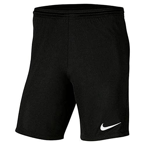 NIKE Y Nk Dry Park III Short NB K Pantalones Cortos de Deporte, Unisex niños, Black/White, XL
