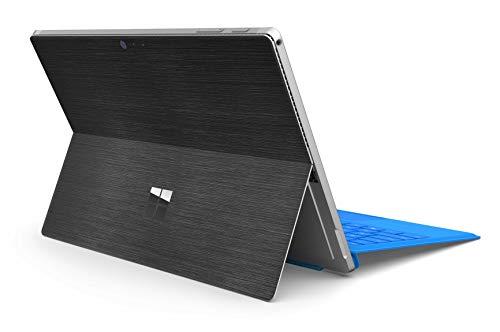 Skins4u Microsoft Surface Pro Struktur Folie fühlbar 3M Orafol Car Wrapping Folie (Surface Pro 7, Black Metall gebürstet)