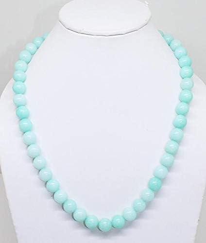 GemAbyss Beads Gemstone Popularity Amazonite Quartz Necklace Elegant Beaded Blue S