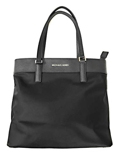 Made of Nylon with Leather Handles Zip Top Closure Interior is fully lined with Multi Compartments Make a Great gift