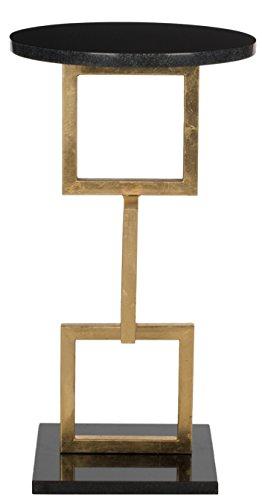 Safavieh Akzenttisch, Metall, Gold/schwarz marmorplatte, 31 x 31 x 58.92 cm