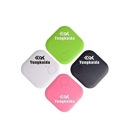Yongkaida - Localizador GPS para llaves, localizador inteligente, rastreador de Pat, Bluetooth, antipérdida, sensor inalámbrico, sensor de alarma, control remoto, selfie, 4 colores quare