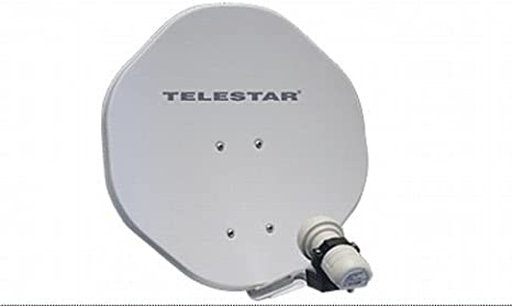 Telestar ALU-Rapid - Antena parabólica Offset (45 cm, con Skysingle-lnb), Color Beige