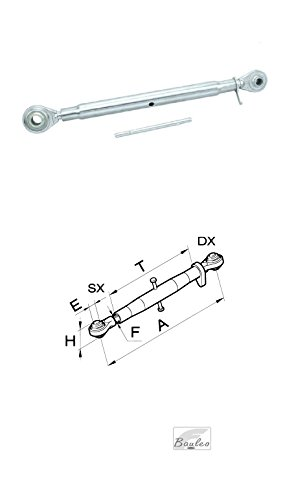 Tercer punto completo, orificio diámetro 19para tractor 50019(L = 540/740) mín/máx