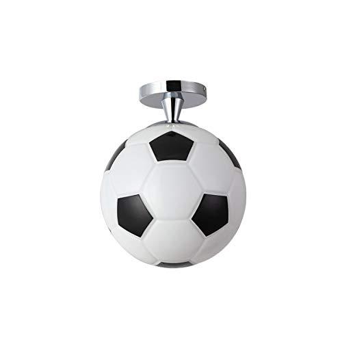 Creative Soccer Ceiling Light? Lampenkap van glas met fitting E27 voor kinderkamer, studio, plafondlamp voor school, Materna, binnenverlichting max. 40 W