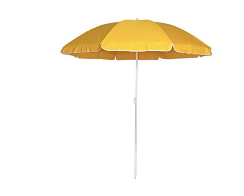 Opulence Trading Sonnenschirm, wetterfest, 1,8 m, Gelb