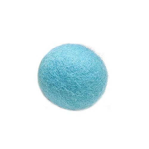 WULE-RYP Pet-Produkte Katzenspielzeug Gravity Ball Intelligentuch Tönt Spielzeug Interaktives Haustierspielzeug Quietschen Spielzeug Ball (Color : Blue Wool Material)