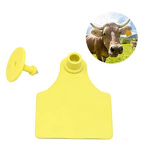 zhouchuanchuan Etichette Spesse per Orecchie, con targhetta numerata, per capre Orecchio Tag Bestiame in plastica Animale caprino Pecora Animali Tag e