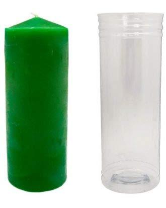 VELON Color Verde Claro 14 x 5.5 cm (con Tubo Protector) - Peticiones y Rituales - Magia Blanca