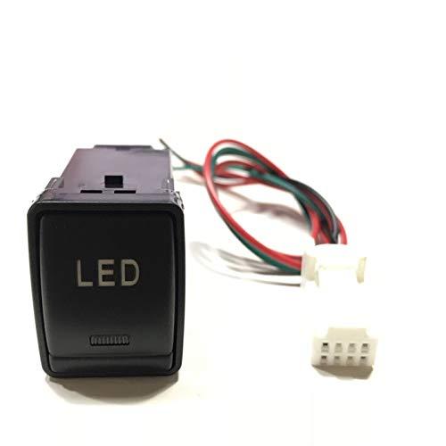 Qiche42 LED Frontal trasera trasera Aprendiz de niebla Luz de radar Sensor de estacionamiento Recorder Sensor de cámara Monitor de conmutador de interruptor de tronco para Nissan Navara Automotor