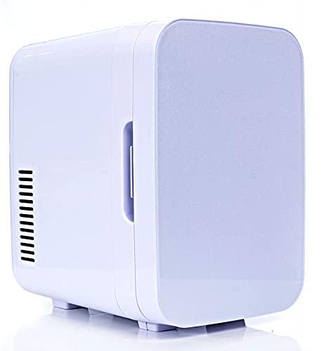 warren Mini refrigerador portátil, Adecuado para Dormitorio, Oficina, automóvil, Dormitorio con refrigerador termoeléctrico y Calentador, refrigerador pequeño