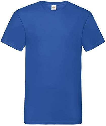 Fruit of the Loom Valueweight T-Shirt für Männer mit V-Ausschnitt, kurzärmlig (S) (Königsblau)