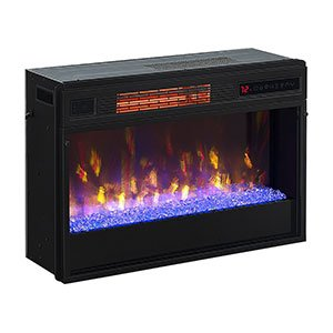 ClassicFlame 26-in 3D SpectraFire Plus Infrared Fireplace Insert w/ Glass - 26II342FGT