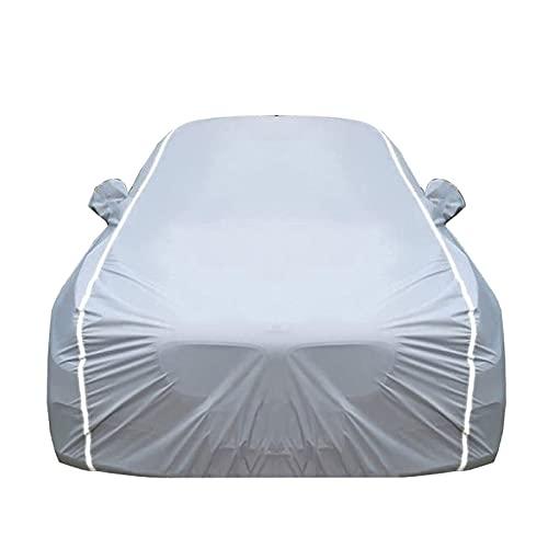 Car Cover Cubierta de Coches Compatible con Ford GT, Funda para Coche Exteriores, Protección contra la Lluvia y el Sol, con candado y Bolsa de Almacenamiento (Color : Silver, Size : Coupe)