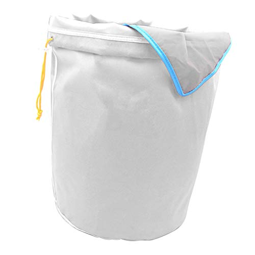 B Blesiya Ice-O-Lator Bubble Bag- 5 Gallon-8 Sac- Glace Herbacé Sac De Mousse à Hachage Huile Sac D'extraction - Blanc-45 microns