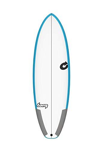 Torq Tabla de Surf Epoxy Tec Pg-R 6.0 Rail Azul Quad Thruster