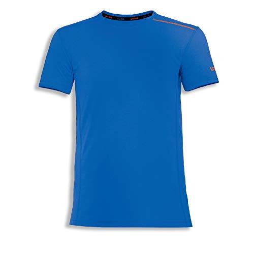 Uvex Suxxeed Herren-Arbeitsshirt - Blaues Männer-T-Shirt - Optimales Feuchtigkeitsmanagement XL