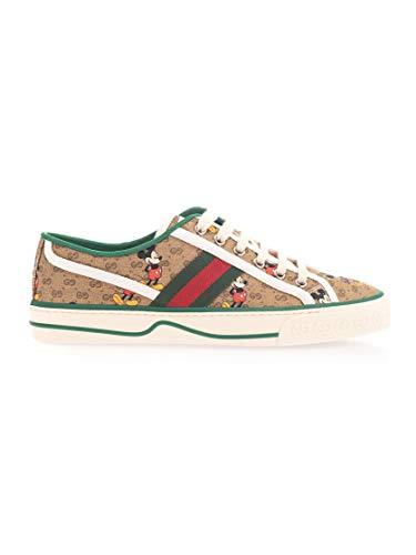 Luxury Fashion | Gucci Dames 606110H0T108530 Beige Katoen Sneakers | Lente-zomer 20