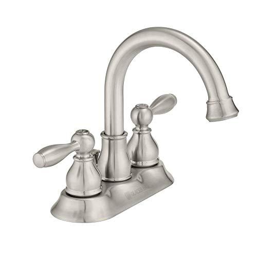 Glacier Bay Mandouri 4 in. Centerset 2-Handle High-Arc Bathroom Faucet in Brushed Nickel