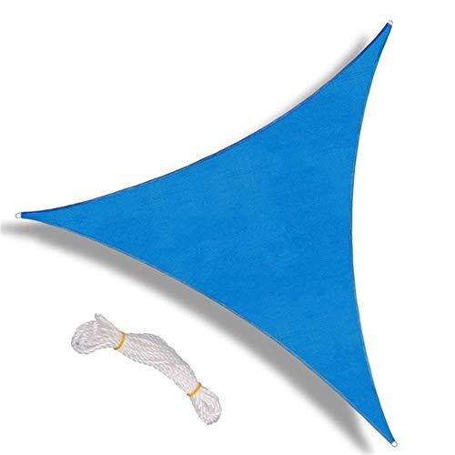 No-branded YJXCC Sin vástago Carpa Parasol Vela Triángulo del pabellón Pérgolas Cubierta Superior Permeable UV Bloque Tela Resistente al Aire Libre (Color : Azul, Size : 5ft)