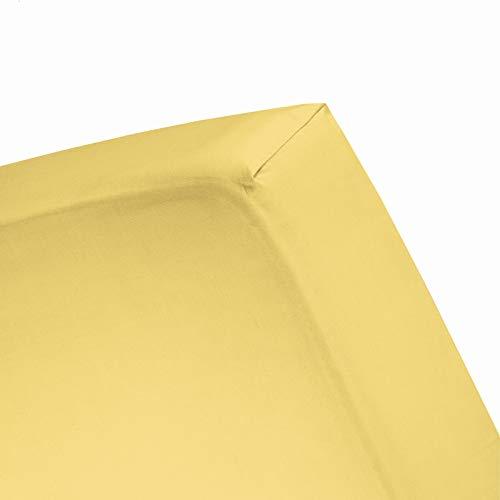 Damai Damai Double Jersey hoeslaken citroen - 180x220 cm - 200x200 cm 100% katoen