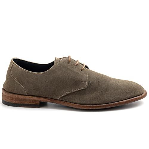 Calpierre Zapato atado Derby K010 de ante Salvia – K010 CAWASH Salvia – Talla Verde Size: 42 EU