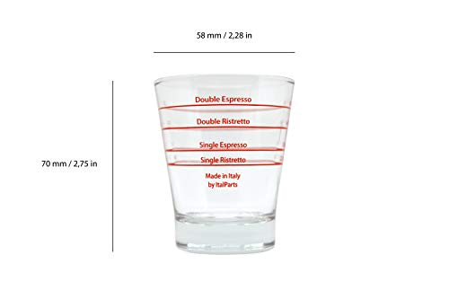 Italparts Espresso Shot Glass Round Pack of 6