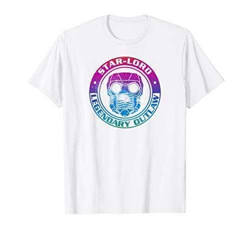 Marvel Guardians Galaxy Star-Lord Rainbow Outlaw T-Shirt C1