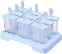 MINGTAI Summer Homemade Ice Cream Ice-lolly Mold Popsicle Moulds Tray Kitchen Accessories (Color : Blue)