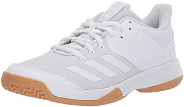 adidas Women's Ligra 6 Volleyball Shoe, White/Gum, 6 M US