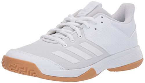 adidas womens Ligra 6 Volleyball Shoe, White/White/Gum, 7 US