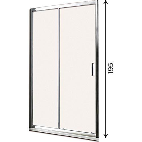 Box doccia porta scorrevole per nicchia profilo cromato altezza 190 cristallo 6mm anticalcare (115 cm)