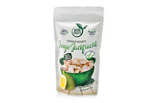 WOW FRUITS Gefriergetrocknete junge Jackfrucht ohne Zucker - Der pflanzliche Fleischersatz (Vegan Glutenfrei Laktosefrei) (25g)